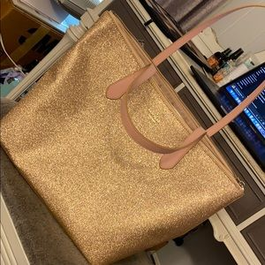 Kate Spade Gold Sparkle Tote